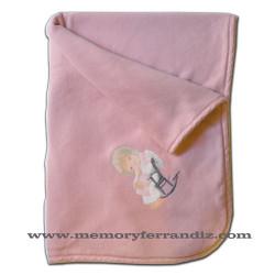 Arrullo cambiador bebé Ferrándiz  -MECEDORA- Color rosa palo