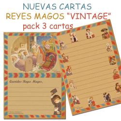 Cartas Reyes Magos VINTAGE, Nuevas 2016, pack 3 uds, Ferrándiz