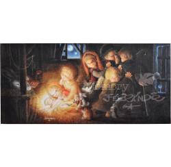 Tarjeta Christmas Ferrándiz -SILENCIO- 10 x21cm, © Memory Ferrándiz