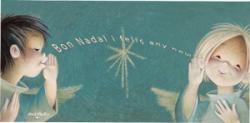 """Tarjeta """"Bon Nadal"""" + sobre  (10 x 21 cm)"""