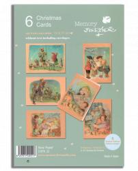 Christmas Ferrándiz, serie PASTEL, pack 6 tarjetas variadas, CHPK 22.