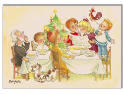 """Cuadro en lienzo digital """"Comida Navidad"""" (60X47cm)"""