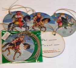 Etiquetas regalo REYES MAGOS a caballo,  Ferrándiz
