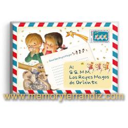 Imán nevera rectangular  CARTAS A LOS REYES MAGOS, Ferrándiz, 53 x 78 mm