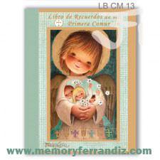 Libro de Recuerdos de mi Primera Comunión -Angelito dorado- Memory Ferrándiz