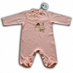 "Pelele ""Angelito paseando bebé"". rosa"