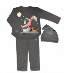 Pijama Memory Ferrándiz -Sonámbulo- color Grafit, con gorrito