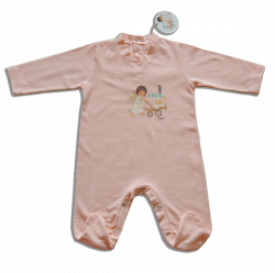 "Pelele ""Angelito paseando bebé""-12 meses-Rosa"