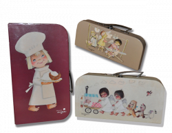 SET 3 Cases Memory Ferrandiz. Cardboard briefcase with handle metal: LITTLE ANGELS