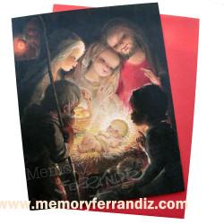Tarjeta Christmas Ferrándiz -ADORACIÓN-  © Memory Ferrándiz