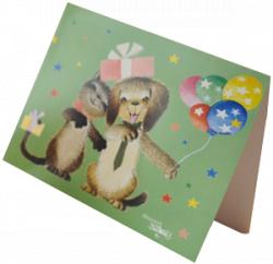"""Tarjeta """"Mascotas"""" + sobre color (15 x 19 cm)"""