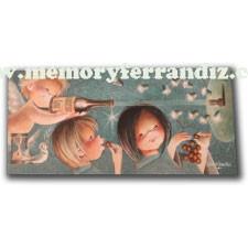 Tarjeta Christmas Ferrándiz, CAVA ANTICRISIS, © Memory Ferrándiz S.L. 10 x 21 cm