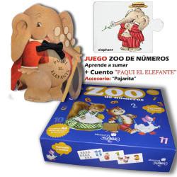 """Juego de números. """"Zoo de números"""" + CUENTO  """"Paqui el Elefante""""."""