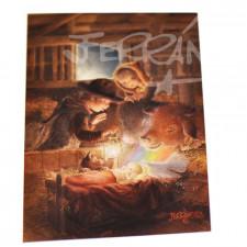 Tarjeta Christmas Ferrándiz ARCO IRIS, 12x17 cm