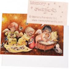 Tarjeta Christmas -Desplumados- Memory Ferrándiz