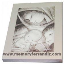 Cuadro en lienzo digital Ferrándiz -Virgen, Blanco y negro- Memory Ferrándiz