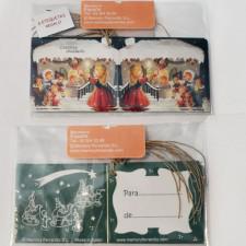 Etiquetas regalo CASITA DE NAVIDAD, Ferrándiz, pack 6 uds
