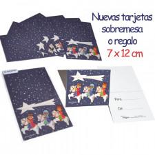 Mini Tarjetas mesa REYES MAGOS Noche estrellas, Ferrándiz. 6 uds