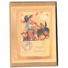 """Libreta mini-notas adhesivas """"Buen Camino"""". 6,5 x 8 x 1 cm."""