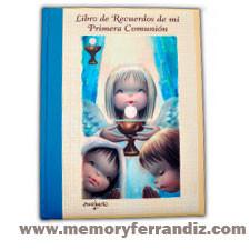 """Libro de Recuerdos de mi Primera Comunión """"Niños y Ángel con cáliz"""". OM.Ferrándiz"""