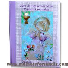"""Libro de Recuerdos de la Primera Comunión """"Angelito rezando"""". OM"""