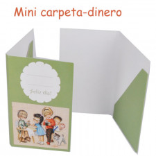 "mini carpetita monedero ""angelitos en verde"""