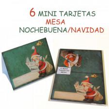 Mini Tarjetas mesa PAPA NOEL, Ferrándiz