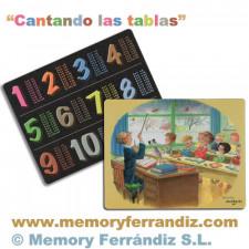 "Tabla de multiplicar Ferrándiz ""Cantando las tablas"" © Memory Ferrándiz"