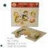 Christmas PUZZLE Ferrándiz, pack 2 tarjetas troqueladas forma puzzle