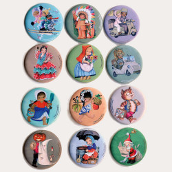 Colección 12 imanes Ferrándiz de los personajes de los cuentos 56 mm, Memory Ferrándiz