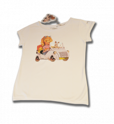 Camiseta biscuter adulto-M-Blanco