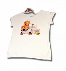 Camiseta -BISCUTER- Memory Ferrándiz-Color Blanco-INFANTIL