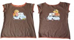 Camiseta biscuter Infantil-10 - 12 años-Marrón