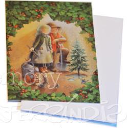 Tarjeta Christmas Ferrándiz ABRAZO Y ABETO, 12x17 cm