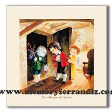 Cuadro en lienzo digital Serie Obras de Misericordia 5 -Dar albergue al viajero- Memory Ferrándiz
