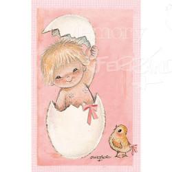 Recordatorios Nacimiento o bautizo -Huevo rosa-Ferrándiz