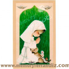 Ferrándiz Communion Box Cards GREEN SERIES GIRL, 50 units