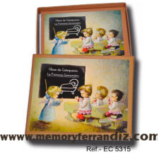 Estampas Comunión Ferrándiz -NIÑOS EN CLASE DE CATEQUESIS- Memory Ferrándiz