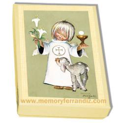 Estampas recordatorios Comunión Ferrándiz -CONSAGRACIÓN- Memory Ferrándiz