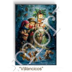 Imán nevera rectangular  VILLANCICOS, Ferrándiz, 53 x 78 mm, acabado brillante, Memory Ferrándiz