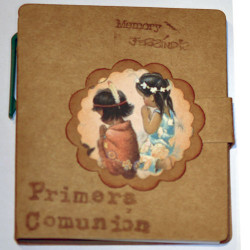 "Libreta mini con notas de colores autoadhesivas +bolígrafo. ""Primera Comunión"". 9 x 8 cm  ""Razas"""