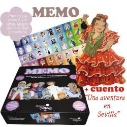 """Juego MEMO + cuento troquelado """"Una aventura en Sevilla"""""""
