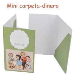 "mini carpetita monedero ""angelitos en verde"""