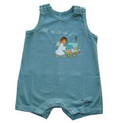 Mono body  de tirantes Memory Ferrándiz -Angelito paseando bebé- Color turquesa