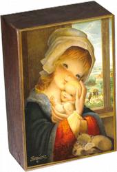"Peana Madera  ""Virgen Ventana"".13 X 9 X 4,5 cm"