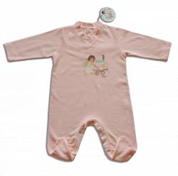 "Pelele ""Angelito paseando bebé"" -6 meses-Rosa"