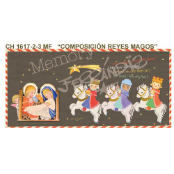 Reyes Magos Christmas Tarjeta Ferrándiz COMPOSICIÓN REYES MAGOS, 10 x 21 cm