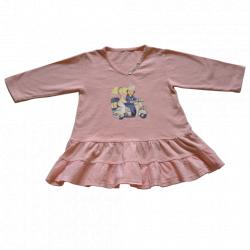 """Vestido volante doble """"Vespa"""". Color rosa"""
