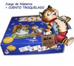 """Juego de números ZOO DE NÚMEROS + CUENTO """"MIX"""", Aprende a sumar"""
