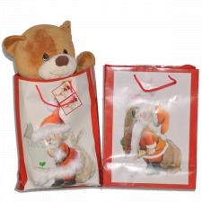 Bolsa papel regalo Navidad PAPÁ NOEL, XL, Ferrándiz 46x32 cm, con etiqueta.